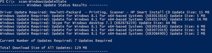 Windows Update Searching Using PowerShell